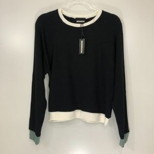 Monrow Black Sweater NWT